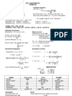 2012 Formulae Maths10