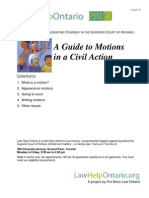 A Guide to Motions 28JAN10