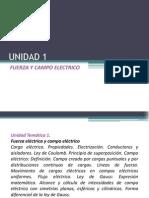 UNIDAD 1 Fuerza Electrica y Campo Electrico
