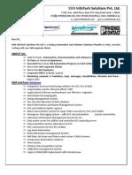Introduction Letter SSM InfoTech Solutions
