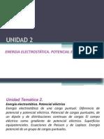 UNIDAD 2 Energia Potencial electrostática. Potencial eléctrico