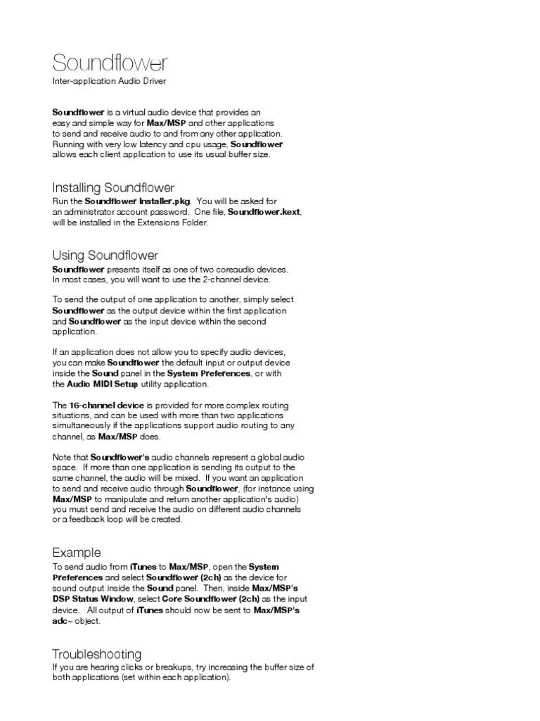 SOUNDFLOWER Leggimi   Application   Reproduction et