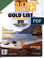 Conde Nast Gold List 2012