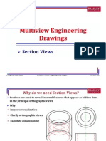 Multiview Engineering Drawings - Sections