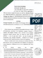 Atto Citazione Processo Anzà Ciampolillo 702 bis C.P.C. 28  12 2011