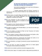 CRONOLOGÍA DE HECHOS HISTÓRICOS-ESTADO DE CHIH