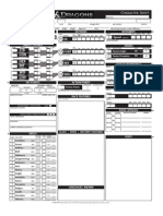 Fillable Character Sheet
