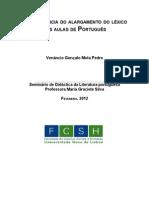 A importância do alargamento do léxico nas aulas de Português