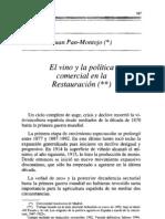 El Vino y La Política Comercial en La Restauración (J.Pan-Montojo)