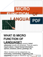 Micro Function of Language