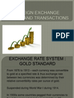 FOREIGN EXCHANGE MARKET AND TRANSACTIONS