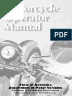 Nebraska Motorcycle Manual | Nebraska Motorcycle Handbook