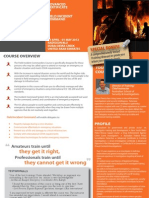 Adv. Certificate in Field Incident Command 29 April - 01 May 2012 Dubai, UAE