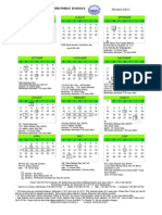 2012-2013 Medford Public Schools Calendar Updated February 6, 2013