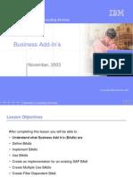 14 Business Add-Ins (BAdIs)