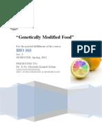 Final Report on GM Food,BIO 103.