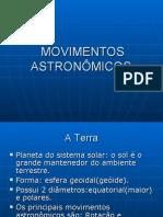 MOVIMENTOS ASTRONÔMICOS