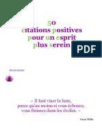 50 Citations Positives Pour Un Esprit Plus Serein