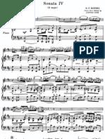 Händel - Violin sonata no 4 in D major - Piano score