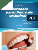 Metodele Paraclinice de Examinare