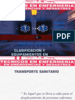 Clasificacion y Equipamientos en Ambulancias