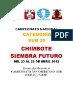 Bases del Campeonato Nacional Sub 20  -  CHIMBOTE  2012