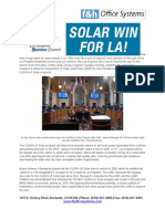 Solar Win for Los Angeles