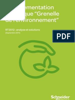 Rt 2012 Efficacité énergétique Chaudière