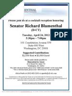 Cocktail Reception for Richard Blumenthal