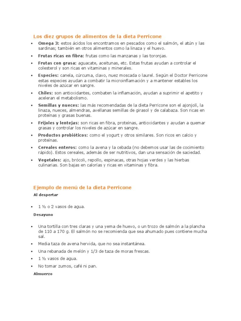 Dieta perricone pdf gratis