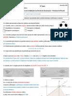 Ficha de avaliação - figuras no plano - correção