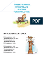 Nursery Rhymes, Songs & Fingerplays Printable Cards