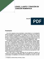 Amor Idealizado,Llanto y Traicion en La Cancion Romantica. ANA FERNANDEZ