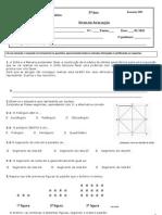 Ficha avaliação nº3 - 5º ano