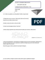 Ficha Formativa para a Prova de Aferição Interna de matemática