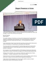 India Wants Bigger Presence in Korea(2010)