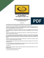 Arancel de Honorarios Profesionales Del Colegio de Arquitectos de Guatemala