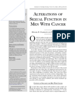 Alterations of Sexual Function in Men With Cancer