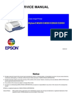 Service Manual Epson Stylus C40UX C40SX C20UX C20SX RevB