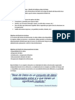 Diseño de Archivos y Base de Datos