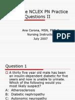NCLEX PN Practice Questions II
