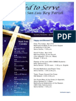 April Newsletter from Mission San Luis Rey Parish