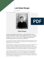Vida y Obra de Rafael Rangel