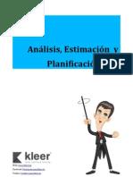 Análisis, Estimación y Planificación Ágil