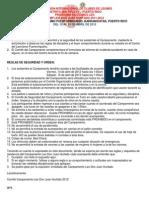 Reglas de Seguridad y Orden Campamento Leo 2012