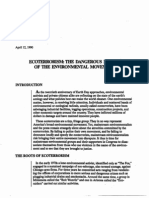 9471 Ecoterrorism and Dangers of Env Policy 1990
