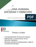Sesión 01 - Persona humana, Sociedad y Derecho