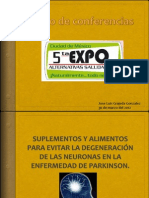 Suplementos y alimentos para evitar la degeneración de las neuronas en la enfermedad de Parkinson.