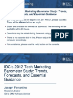 20120301 Idc Tech Marketing Barometer Study Preso Final