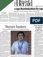 The Herald-Sun- Buzzer Beaters- Sun. April 1, 2012- Page one